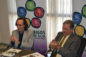 """Firma del convenio """"Charlas en Red"""". Fuente: Caja de Jubilaciones"""